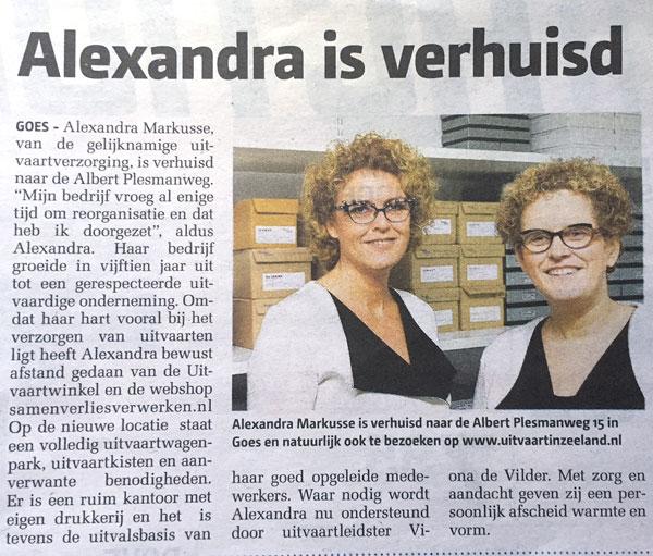 Alexandra Is Verhuisd