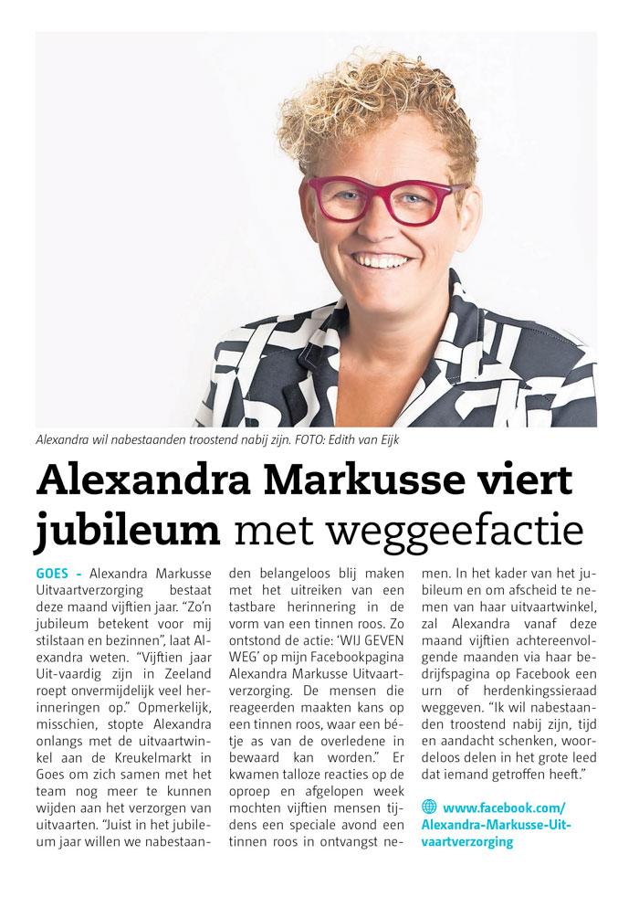 Alexandra Markusse Viert Jubileum
