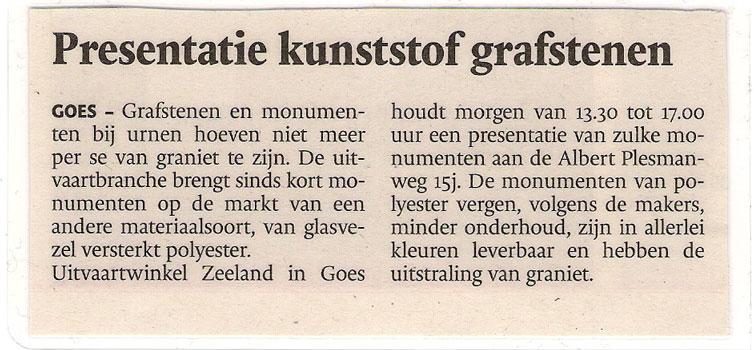 Kunststof Grafstenen, PZC 10-04-09