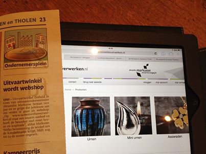 Onze Digitale Shop In De Papieren Krant